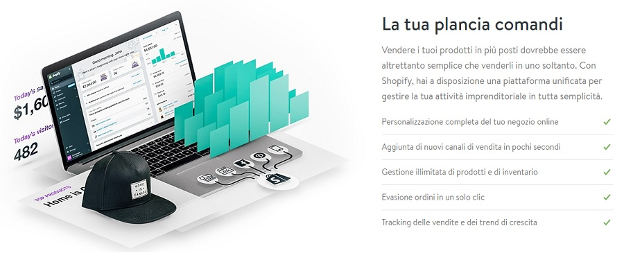 creare un e-commerce con shopify