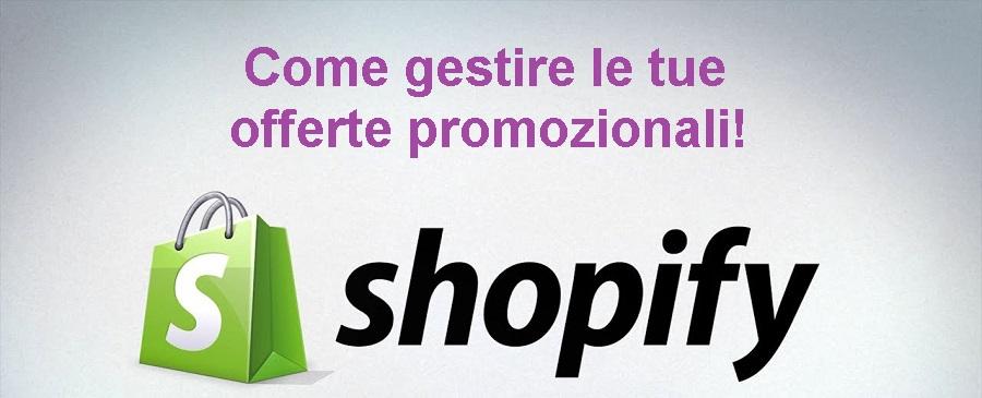 Promozioni su Shopify