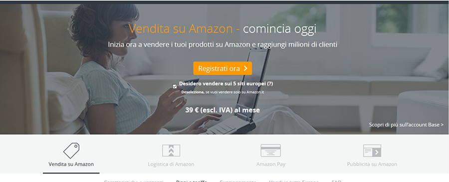 da2d5f52fcefd0 Tutto ciò che devi fare per poterti registrare su Amazon è collegarti alla  pagina di Amazon Services. Avrai davanti a te una schermata simile a questa: